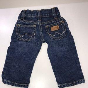 Baby wrangler jeans 3 - 6 months EUC western wear